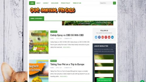 our animal friends website front page new